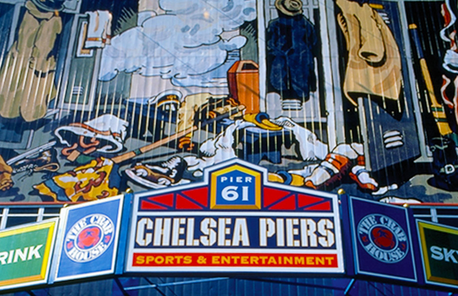 Chelsea Piers facade illustration