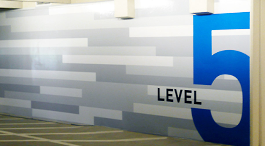 Chevron Tower exterior sign