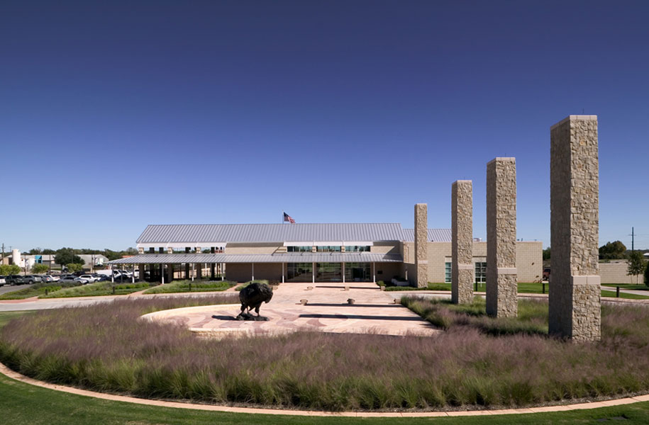 exterior landscape picture of the entrance to Frontier Texas in Abilene