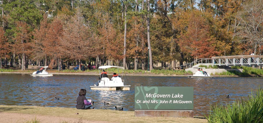 McGovern Lake sign