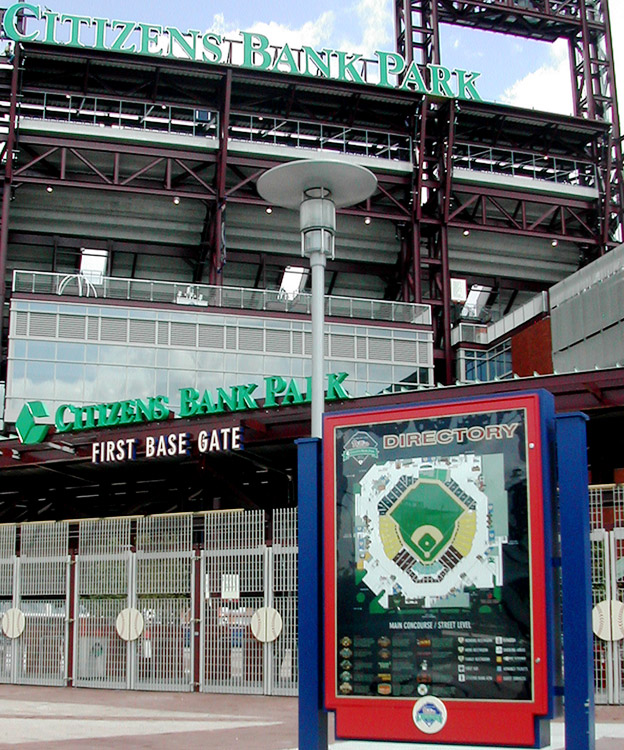 Citizens Bank Park exterior sign