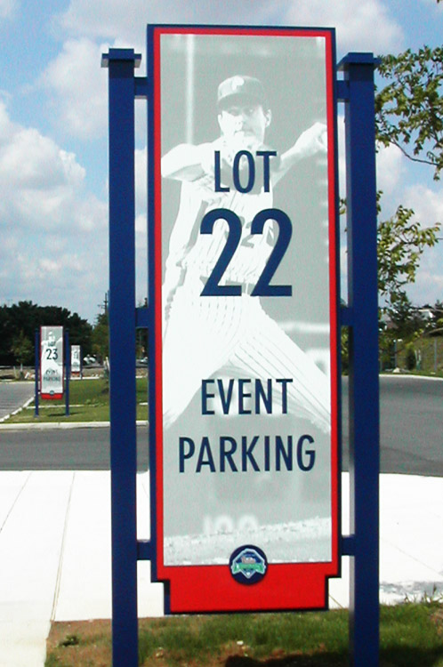 Citizens Bank Park event parking sign