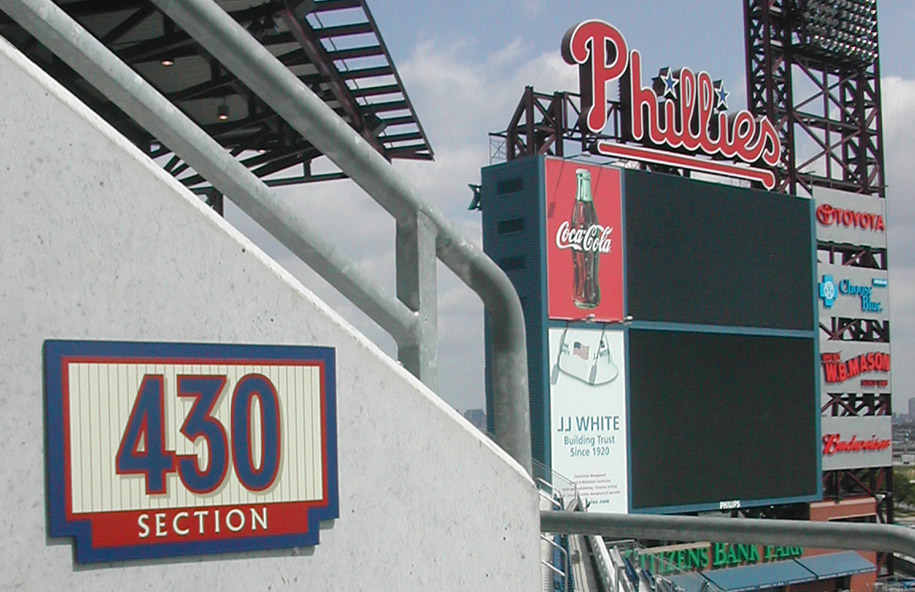 Citizens Bank Park section signs