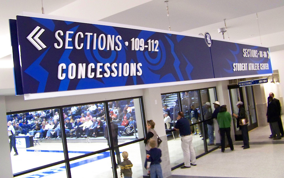 Rice University Autry Arena section sign