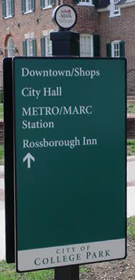 Route 1 sign