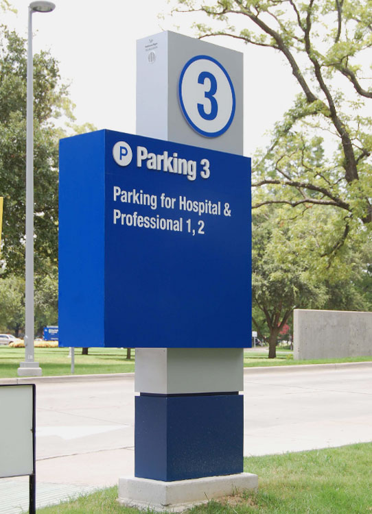 Texas Health Resources parking sign